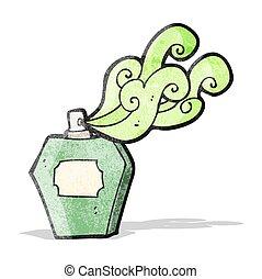 Cartoon Parfümflasche.