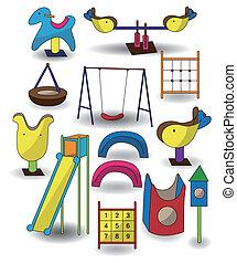 Cartoon Park Spielplatz-Ikone