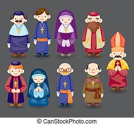 Cartoon-Priester-Ikone