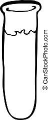 Cartoon Reagenzglas