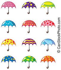 Cartoon Regenschirme