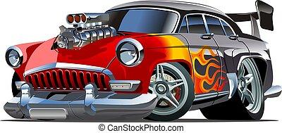 Cartoon Retro-Hot Rod