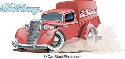Cartoon Retro-Lieferwagen