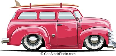 Cartoon Retro Van