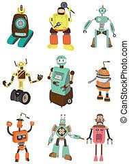 Cartoon-Roboter-Ikone