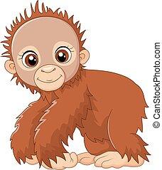 Cartoon süß ein Baby-Affe.