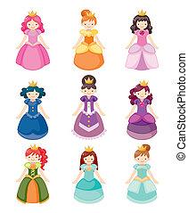 Cartoon-schöne Prinzessinnen-Ikonen