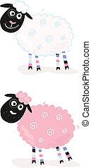 Cartoon-Schafe