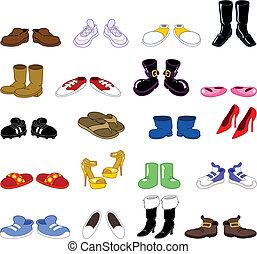 Cartoon-Schuhe Set