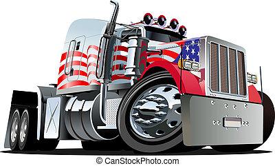 Cartoon Semi-Truck