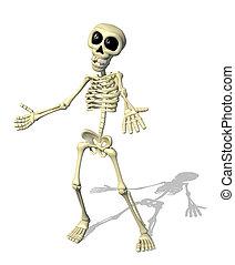 Cartoon Skelett willkommen