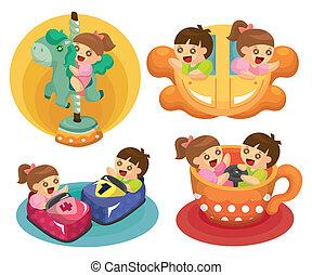 Cartoon-Spielplatz-Ikone