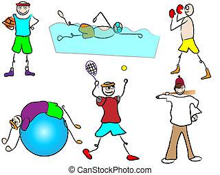 Cartoon Sport und Freizeit