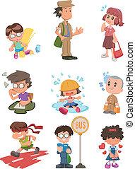 Cartoon-Studenten-Ikone