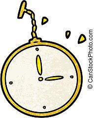 Cartoon Taschenuhr.