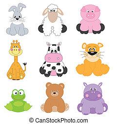 Cartoon-Tiere