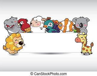 Cartoon Tierkarte