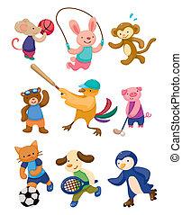 Cartoon Tiersportspieler