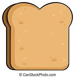 Cartoon Toast Brotscheibe
