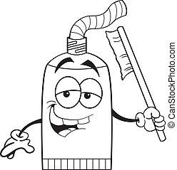 Cartoon Tube Zahnpasta