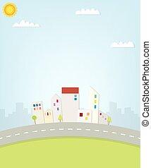 Cartoon urban view