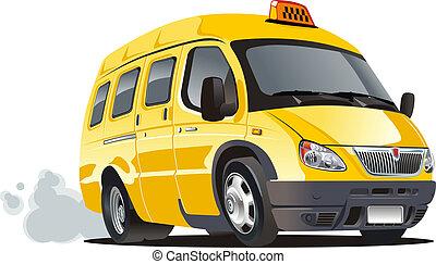 Cartoon Van Taxi