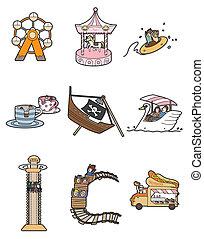 Cartoon-Vergnügungspark-Ikone