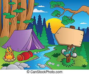Cartoon Waldlandschaft 6.