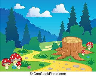 Cartoon Waldlandschaft 7.