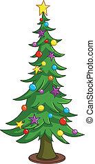 Cartoon-Weihnachtsbaum