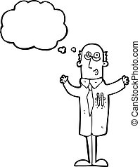 Cartoon Wissenschaftler mit Ideen