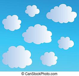 Cartoon-Wolkensammlung 3