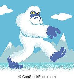 Cartoon Yeti.funny Yeti