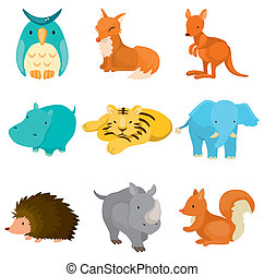 Cartoon Zootier-Ikonen
