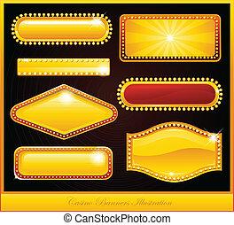 Casino Banner Zeichen.