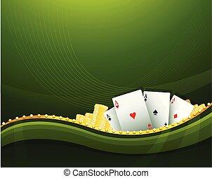 Casino Cambling Hintergrundelemente.