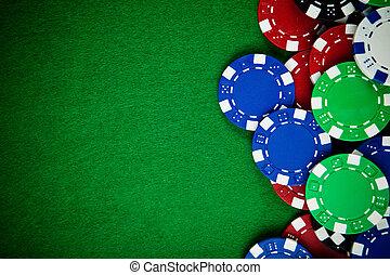 Casino-Spielchips mit Kopien