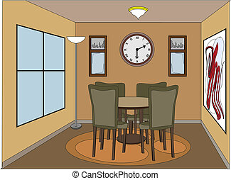 Casual Dinning Room mit Akzent
