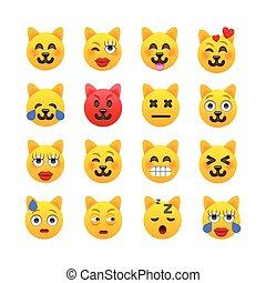 Cat Emoji. Katzenemoticons