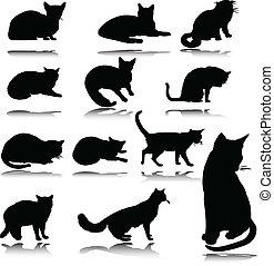 Cat Vektor Silhouettes