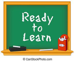 Chalk Board, bereit zum Lernen