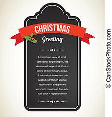 Chalkboard Weihnachts-Einladung und Etikett
