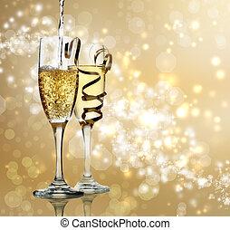 champagner, feier