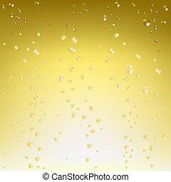 Champagner-Vektor Hintergrund.