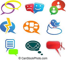 Chat und Kommunikations-Ikonen