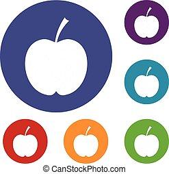 Checkered Apple Icons set.
