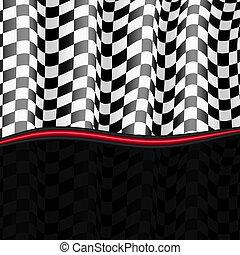 checkered, eps10, flag., hintergrund., vektor, rennsport