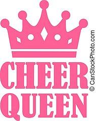 Cheer Queen mit Krone.