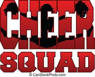 Cheer Squad mit Cheerleader