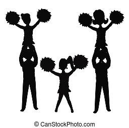 Cheerleader in Silhouette.